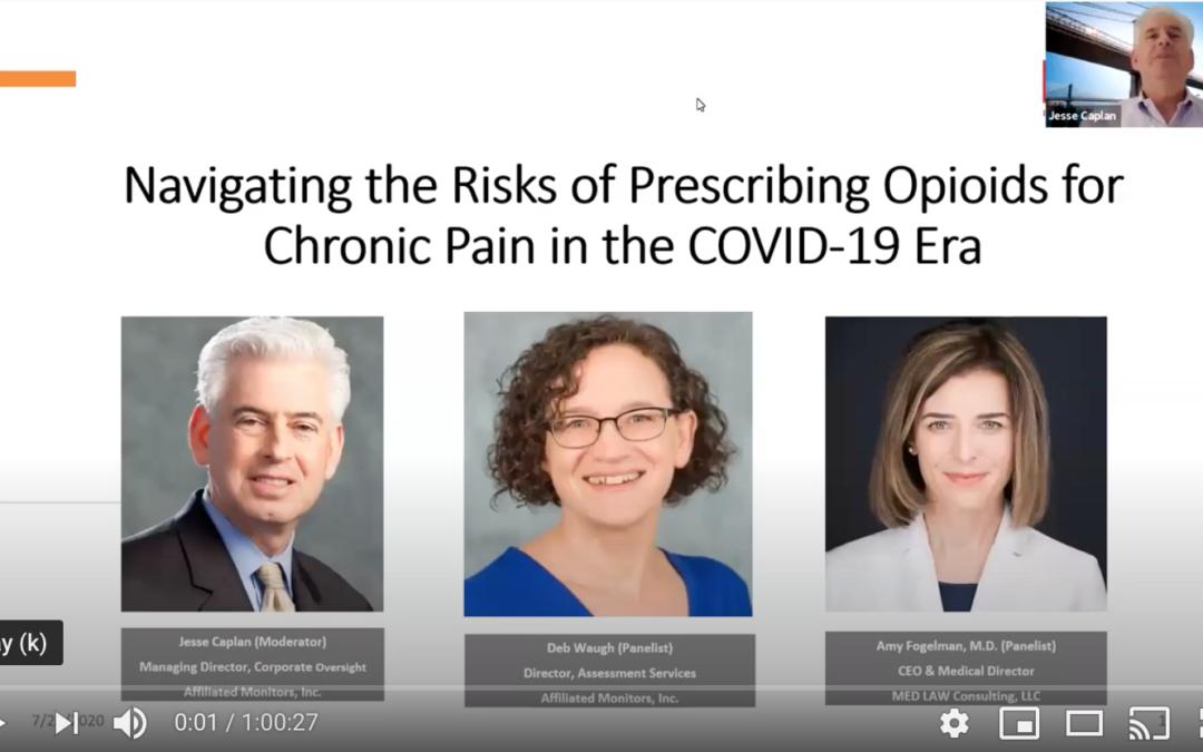 Webinar: The risks of prescribing opioids for chronic pain in the COVID-19 Era